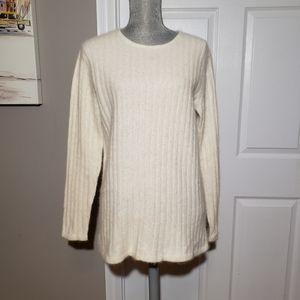 RAFAELLA angora/wool blend ribbed sweater
